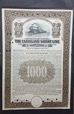 Cleveland Shortline Roadroad Stock Certificate
