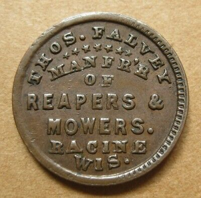 Racine Wisconsin - WI700G-4a R-6 EF - Thomas Falvey Reapers & Sowers - Scarce