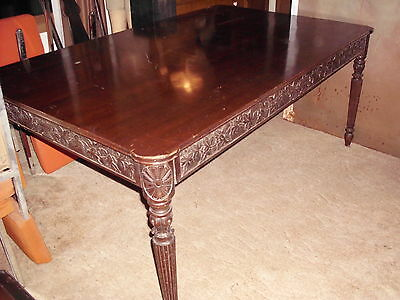 1860s Hand Carved Walnut Dining Table
