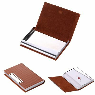 PU Leather Stainless Steel Luxury Business Case Bag Organizer Name Card Holder