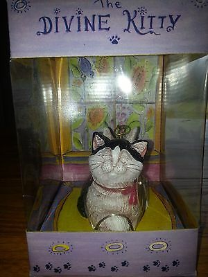 Telle Stein THE DIVINE KITTY-MICHAEL Figurine The Stone Bunny 2004 Wings Halo