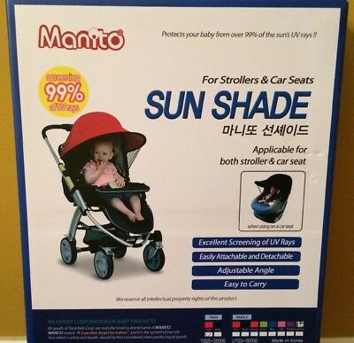 MANITO | Twin stroller Sun Shade | COLOR RED