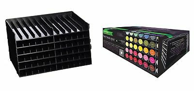 Crafters Companion Spectrum Noir Ink Pen Storage Unit Black - 6 Trays 72 pens