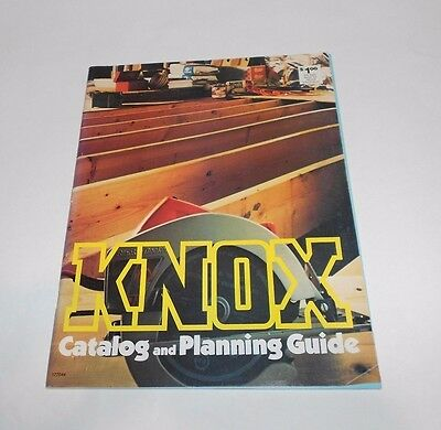 Vintage KNOX Catalog and Planning Guide Lumber Home Improvement 1970's