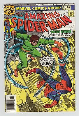 THE AMAZING SPIDER-MAN #157 - VF - June 1976 Doctor Octopus Marvel comic book