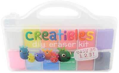 International Arrivals is newly OOLY 161-001 Creatibles DIY Erasers, Set of 12