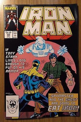 Iron Man #220 1987 NM unsold store stock Never Read IronMan SpyMaster