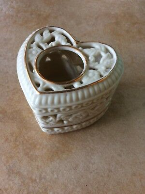 PARTY LITE 'Thanks From The Heart' Tea light Votive Candle Gold Beige Heart Box