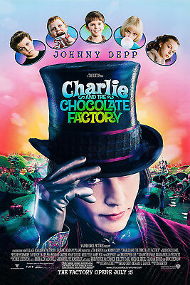 Charlie And The Chocolate Factory (2005) Original Movie Poster  - Rolled 2-Sided