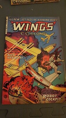 Wings Comics 121  Atomic Explosion Cover 1953