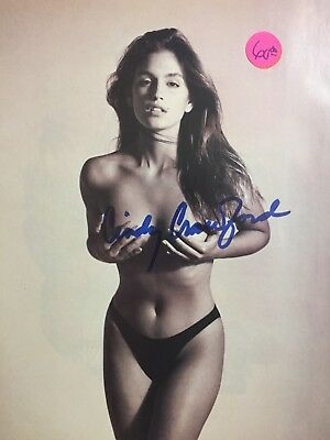 Supermodel Cindy Crawford sexy nude hand signed Playboy page