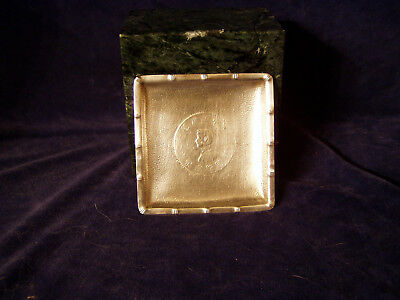 Chinese Export Silver Ashtray Inset Coin Marked STERLING 2 Troy Ounces