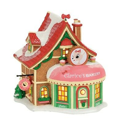 "Dept 56 North Pole ""CLARICE'S NORTH POLE BAKERY"" NIB 2017 FREE SHIPPING"
