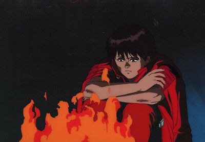 Akira Anime Cel Animation Art Beautiful Kei in Kaneda's Red Leather Jacket Otomo