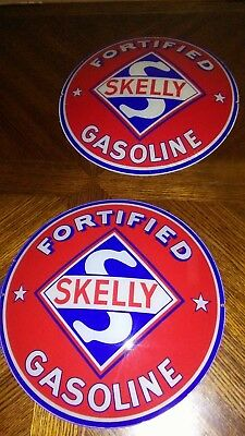 Vintage Original SKELLY GASOLINE GLOBE this is the FORTIFIED GASOLINE