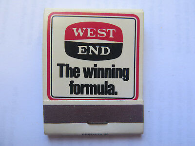 WEST END BEER BOOK of MATCHES MATCH BOX c1980 SOUTH AUSTRALIAN