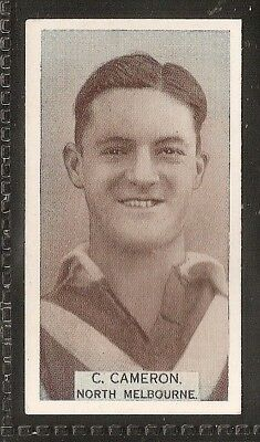Wills Australian-Aussie Rules Footballers 1933-#033- North Melbourne - C Cameron