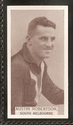 Wills Australian-Aussie Rules Footballers 1933-#059- South Melbourne - Robertson
