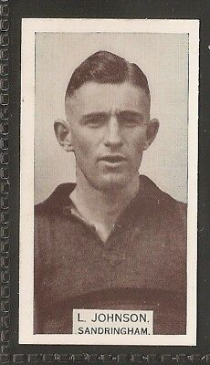 Wills Australian-Aussie Rules Footballers 1933-#087- Sandringham - Les Johnson