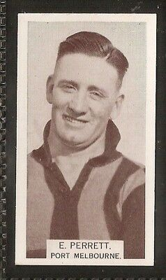 Wills Australian-Aussie Rules Footballers 1933-#167- Port Melbourne - E Perrett