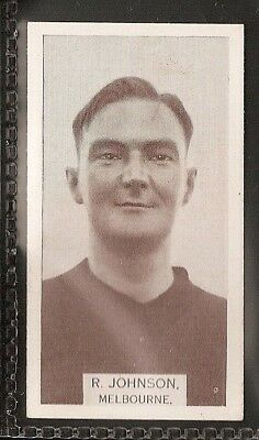 Wills Australian-Aussie Rules Footballers 1933-#192- Melbourne - R Johnson