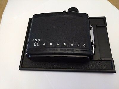 Graflex Graphic Roll Holder, 4 x 5,  120 film Back only.Free Shipping Great Deal