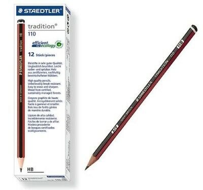 Staedtler Tradition 110 HB Lead Pencil - 12 Pack