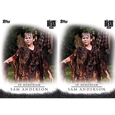 2x SELECTS IN MEMORIAM SAM ANDERSON Topps Walking Dead Trader Digital Card