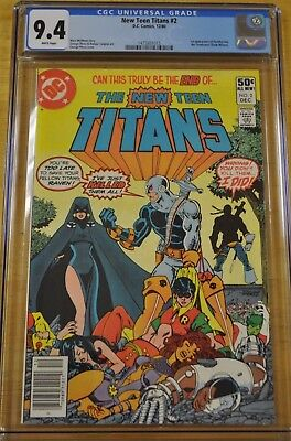 New Teen Titans #2 Cgc 9.4 Nm Wp 1980 1St Appearance Deathstroke Dc New Movie