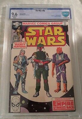 Star Wars # 42 9.6 NM+ Awesome Boba Fett Cover CBCS