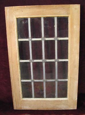 Vintage Architectural Mission Era 16 Pane Leaded Glass Window / Door, 1 Of 3