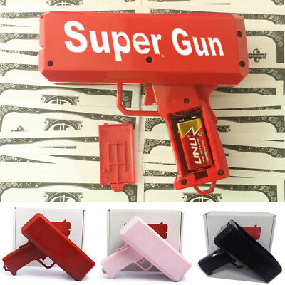 Super Money Launch Gun Cash Cannon Gun In Box Toy Gift Make it rain Party Game