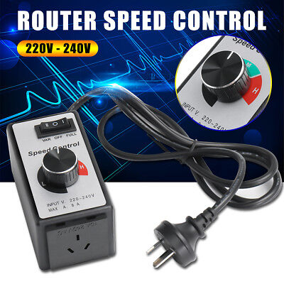 8A 220V Variable Router Fan Speed Controller Electric Motor Rheostat AUS Plug