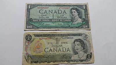 Lot Of 2 Canadian Dollars