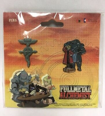 FullMetal Alchemist Official Brotherhood Pin Set Flamel, Elric Brothers