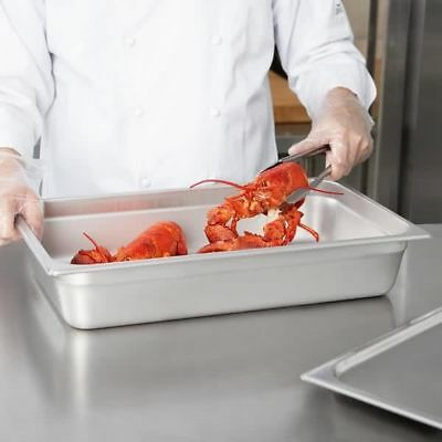 "PRO Steam Table Pan Full Size 4"" Deep Cover Lid Stainless Steel Catering Buffet"