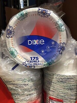 Dixie Ultra Paper Bowl 12 ounce 175 count Heavy Duty Disposable Picnic Bowls