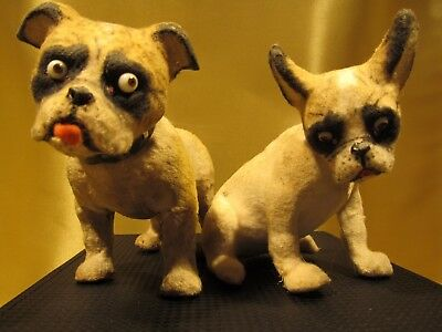 ANTIQUE Pair of French Bulldogs made in Germany RARE
