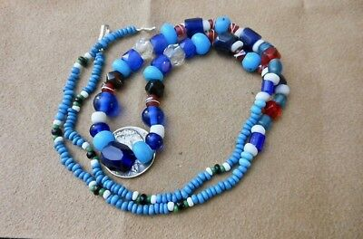 OLD FIRST NATIONS NATIVE AMERICAN TRADE BEADS from the PNW HAIDA ALASKA