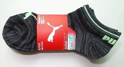 Puma Women's No Show Socks 6 Pack 9-11 Black Neon Athletic Sport Cool Cell New