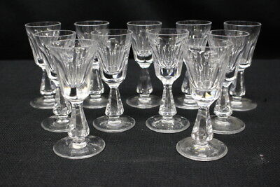 "Set of 11 Vintage Waterford Crystal GLENCREE Cut 4"" Cordial Glasses, Irealand"