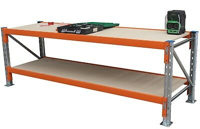Pallet Racking Work bench with Solid Timber Top - 1829Wx1219D - QLD