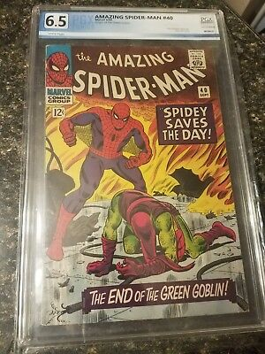 The Amazing Spider-Man #40 (Sep 1966, Marvel) Origin Story, Green Goblin white p