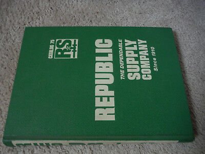 1969 Republic The Dependable Supply Company Catalog 75 RS.
