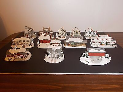 hawthorne village norman rockwell home for the holiday village collection - lot