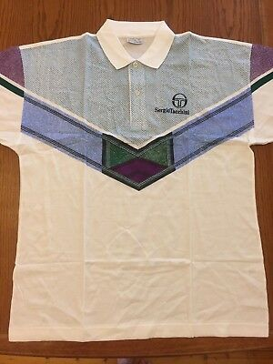 Sergio Tacchini Men's Tennis Squash Casual Polo Shirt Xl