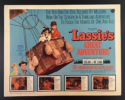 Original 1963 Lassie's Great Adventure 22 x 28 Movie Poster SIGNED Jon Provost