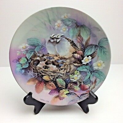 Lena Liu TENDER LULLABY Nature's Poetry SPARROW Plate #3 - New in Box & COA