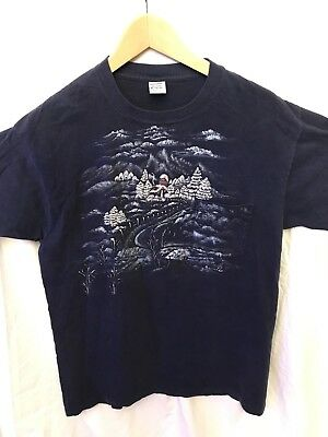 Vintage JC Penney Royal Comfort T-Shirt Men's XL Made in USA Winter Snow 90s