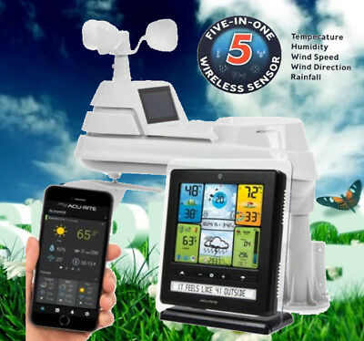 Acurite 5IN1 Pro Wireless Weather Station Patented Self-Calibrating Forecasting